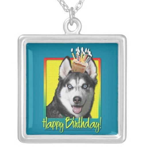 Birthday Cupcake - Siberian Husky Pendants