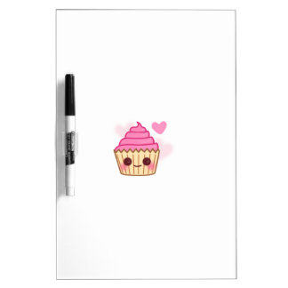 Birthday Cupcake- Smiling Dry Erase Board