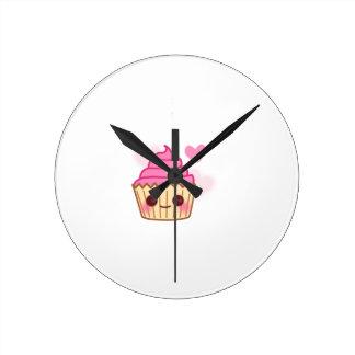 Birthday Cupcake- Smiling Wall Clocks