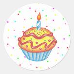 Birthday Cupcake Sticker
