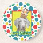 Birthday Cupcake - Weimeraner Coaster