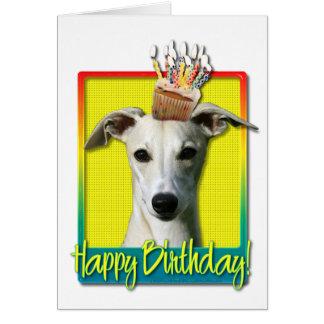 Birthday Cupcake - Whippet Card