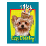 Birthday Cupcake - Yorkshire Terrier Postcard