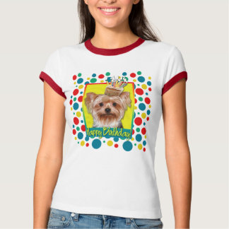 Birthday Cupcake - Yorkshire Terrier T-Shirt