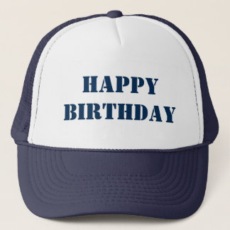 BIRTHDAY Customize with a logo, design, or text Trucker Hat