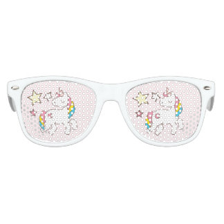 Birthday. Cute Unicorn with Cute Stars. Kids Sunglasses