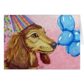 Birthday Dachshund Card