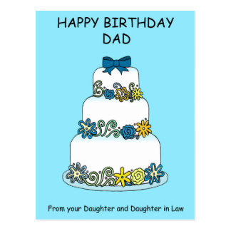 Birthday Dad from Daughter and Daughter in Law Postcard