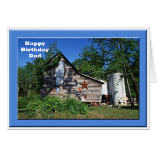 Birthday - Dad Old Virginia Barn Card