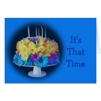 Birthday Daisy Cake- customize Card