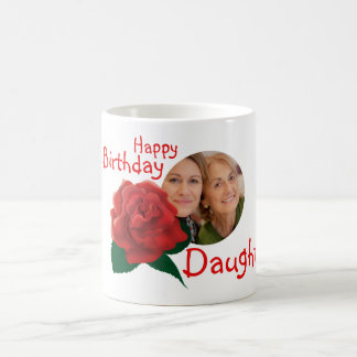 Birthday daughter flower custom photo text mug