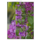 BIRTHDAY - Daughter-in-Law - LAVENDER LILACS Card