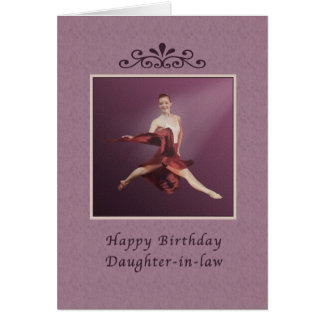Birthday, Daughter-in-law, Leaping Ballerina Card