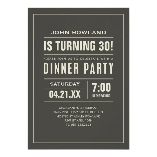 Birthday Dinner Invitation Wording can inspire you to create best invitation template
