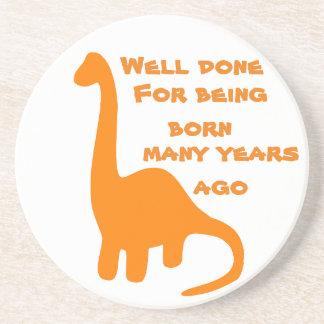 Birthday Dinosaur Drink Coasters