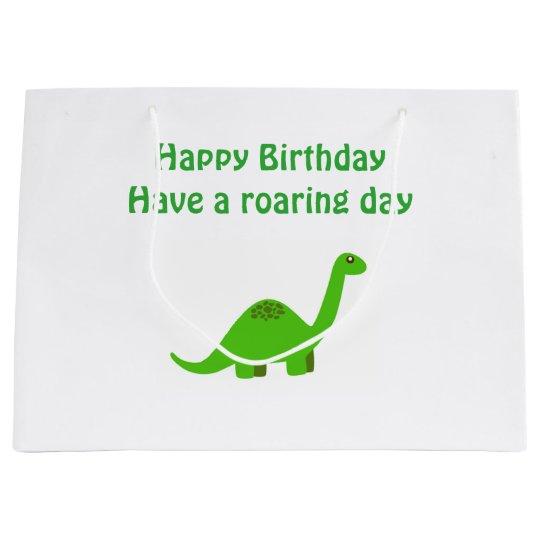Birthday dinosaur gift present bag