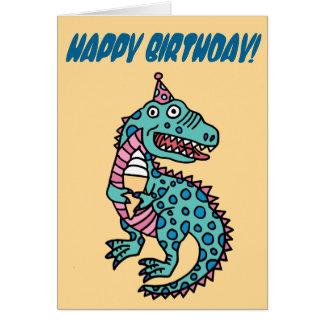 Birthday Dinosaur & Ice Cream Card