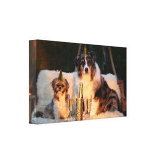 Birthday Dogs Celebrating Your Birthday Canvas Print