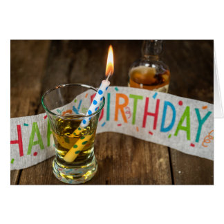 Birthday drink in shot glass card