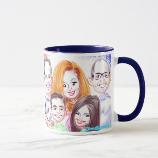 Birthday Family Caricatures Mug 2015