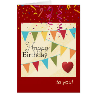 Birthday Fanfare for Him Card