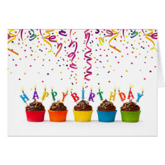 Birthday Fanfare & Streamers Birthday Card