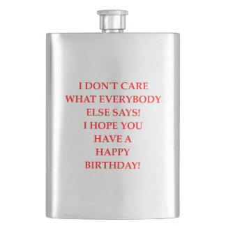 birthday flask