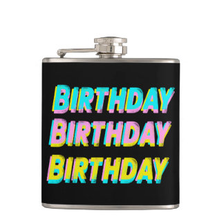 Birthday Flask