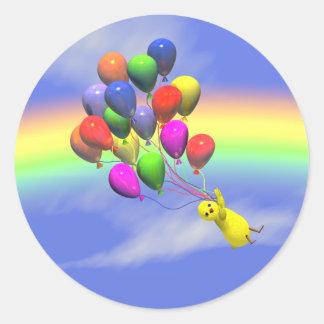 Birthday Flight Round Sticker