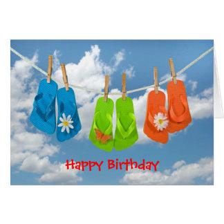 Birthday flip-flops card