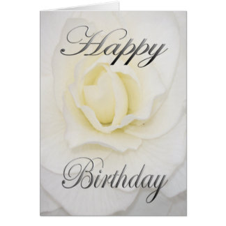 Birthday Flower in White Card