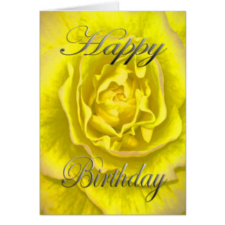 Birthday Flower in Yellow and Pink Card