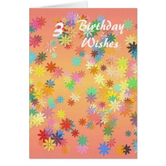 Birthday Flowers Heart Photograph Greeting Card