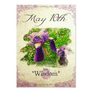 "Birthday flowers on May 10th ""Iris"" Card"