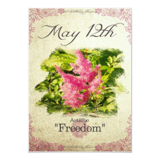 "Birthday flowers on May 12th ""Astillbe"" Card"