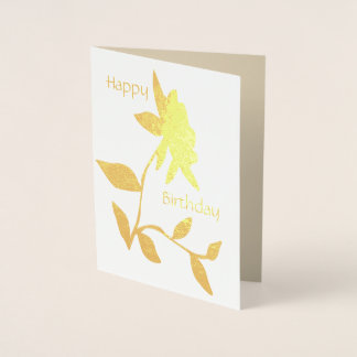 Birthday foil Card