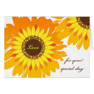 Birthday for Girlfriend, Bright Sunflowers Card