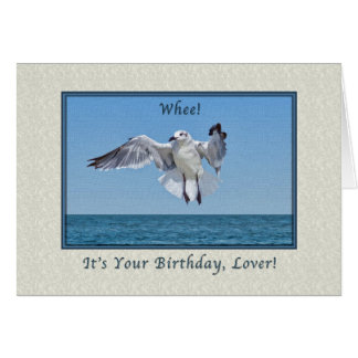 Birthday for Lover with Laughing Gull Card