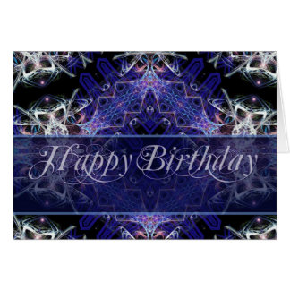 Birthday Fractal Art Card