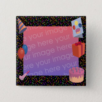 Birthday Frame 2 Inch Square Button