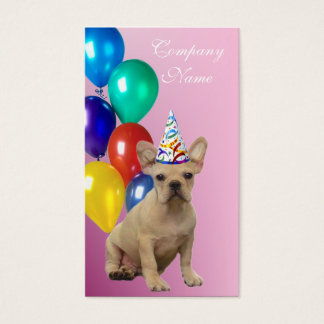 Birthday French Bulldog Business Cards