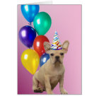 Birthday French Bulldog Card