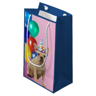 Birthday French Bulldog gift bag