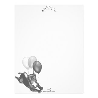Birthday French bulldog letterhead