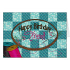 BIRTHDAY - FRIEND - EMROIDERY/SEWING/QUILTING CARD