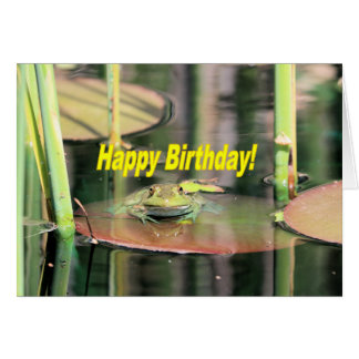 Birthday frog card