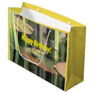 Birthday Frog Large Gift Bag