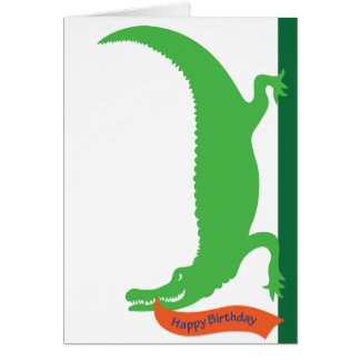 Birthday Gator Card