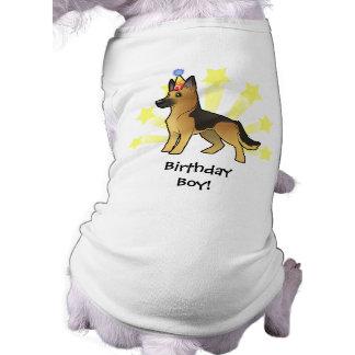 Birthday German Shepherd Doggie Tee Shirt