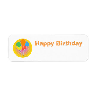 Birthday Gift Name Label With Balloons Return Address Label